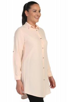 Lir - Kadın Gömlek Somon 4015 (1)