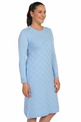 Lir - Kadın Mevsimlik Triko Elbise Mavi TRK-8537 (1)