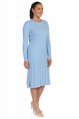 Lir - Kadın Mevsimlik Triko Elbise Mavi TRK-8538 (1)