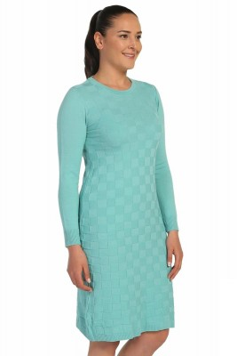 Lir - Kadın Mevsimlik Triko Elbise Mint TRK-8537 (1)