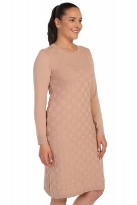 Lir - Kadın Mevsimlik Triko Elbise Pudra TRK-8537 (1)