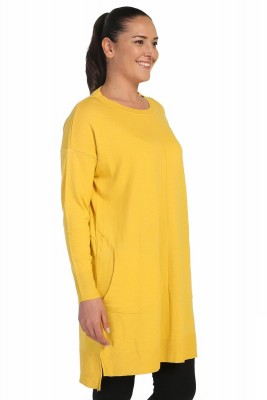 Lir - Kadın Mevsimlik Triko Tunik Sarı TRK-1842 (1)