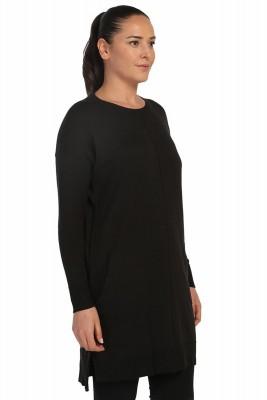 Lir - Kadın Mevsimlik Triko Tunik Siyah TRK-1842 (1)
