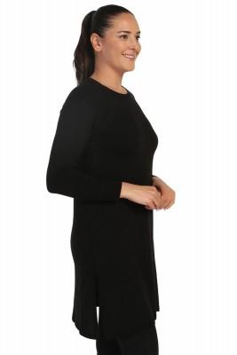 Lir - Kadın Mevsimlik Triko Tunik Siyah TRK-999 (1)