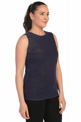 Lir - Kadın Puantiyeli Kolsuz Bluz Desenli 2098 (1)
