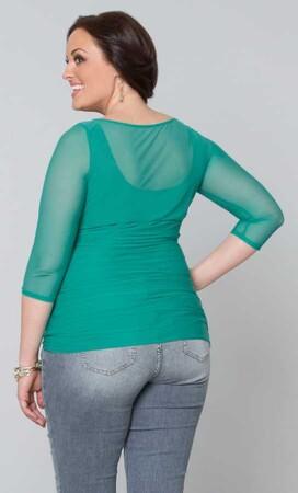 Mangolino Dress - OUTLET MANGOLİNO DRESS MD317 Büyük Beden Abiye Bluz (1)