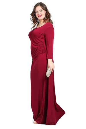 Mangolino Dress - 6232 büyük beden indirimli elbise 44-46 beden (1)