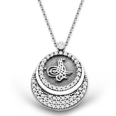 Tesbihane - 925 Ayar Gümüş Bayan Kolye (1)