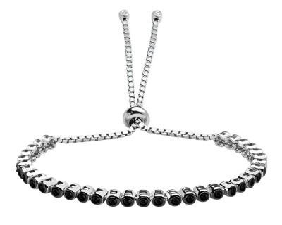Tesbihane - 925 Ayar Gümüş Siyah Taşlı Bileklik (1)