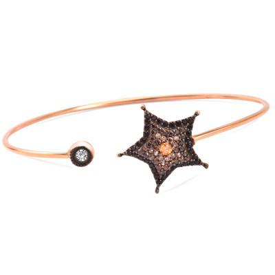 Tesbihane - 925 Ayar Gümüş Yıldız Tasarım Bileklik (1)