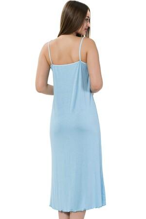Angelino İç Giyim - Bayan İp Askılı Uzun Gecelik 914 (1)