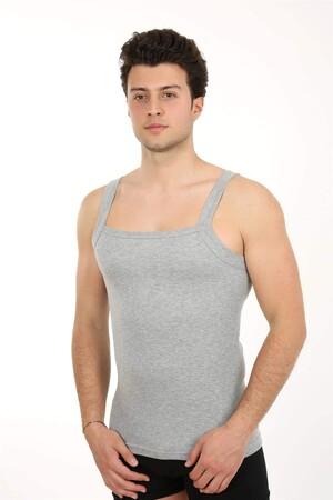 Angelino İç Giyim - Erkek Kalın Askılı Likralı Atlet 21002 (1)