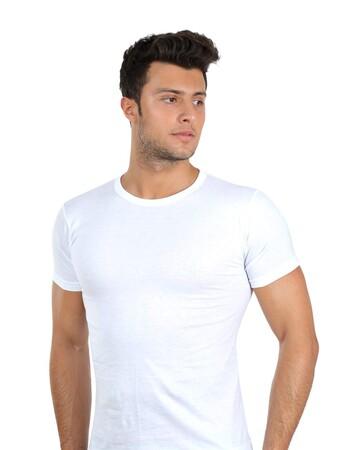 Angelino İç Giyim - Erkek Sıfır Yaka Penye Atlet 65671 (1)