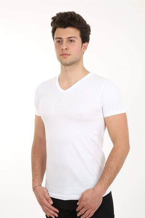 Angelino İç Giyim - Erkek V Yaka Penye Atlet 65601 (1)