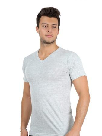 Angelino İç Giyim - Erkek V Yaka Penye Atlet 65602 (1)