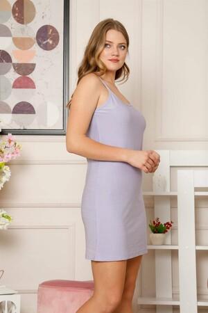 Angelino İç Giyim - İp Askılı Lila Gecelik 967 (1)