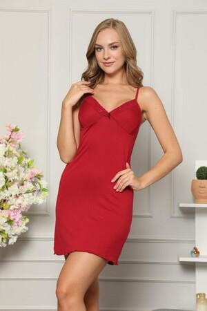 Angelino İç Giyim - İp Askılı Penye Gecelik 367 (1)