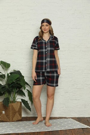 - Kadın %100 Pamuk Penye Kısa Kol Şortlu Pijama Takım 4318 (1)