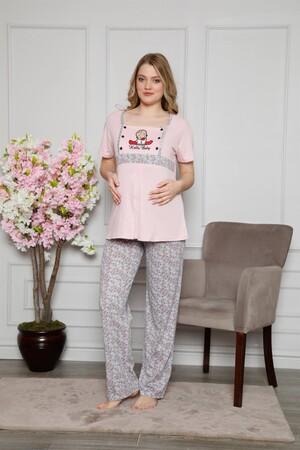 Angelino İç Giyim - Kadın %100 Pamuklu Hamile Pijama Takımı 4505 (1)