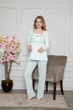 Angelino İç Giyim - Kadın %100 Pamuklu Hamile Pijama Takımı 4516 (1)