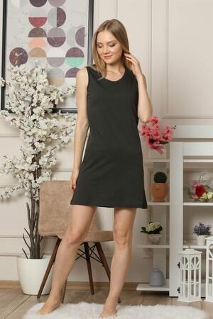 Angelino İç Giyim - Kalın Askılı Penye Gecelik 954 (1)