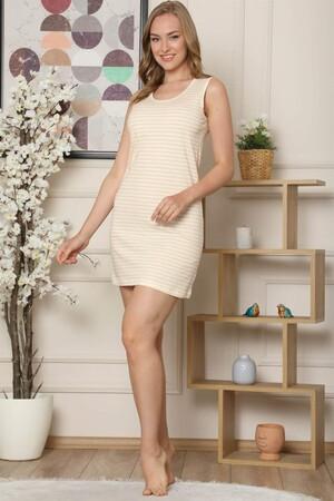 Angelino İç Giyim - Kalın Askılı Penye Gecelik 962 (1)