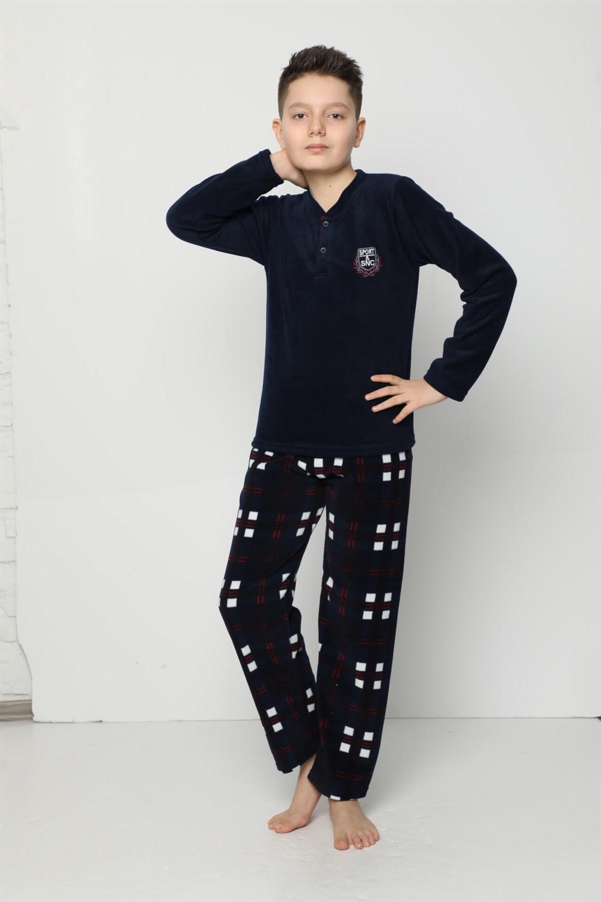 Angelino İç Giyim - WelSoft Polar Erkek Çocuk Pijama Takımı 4529 (1)