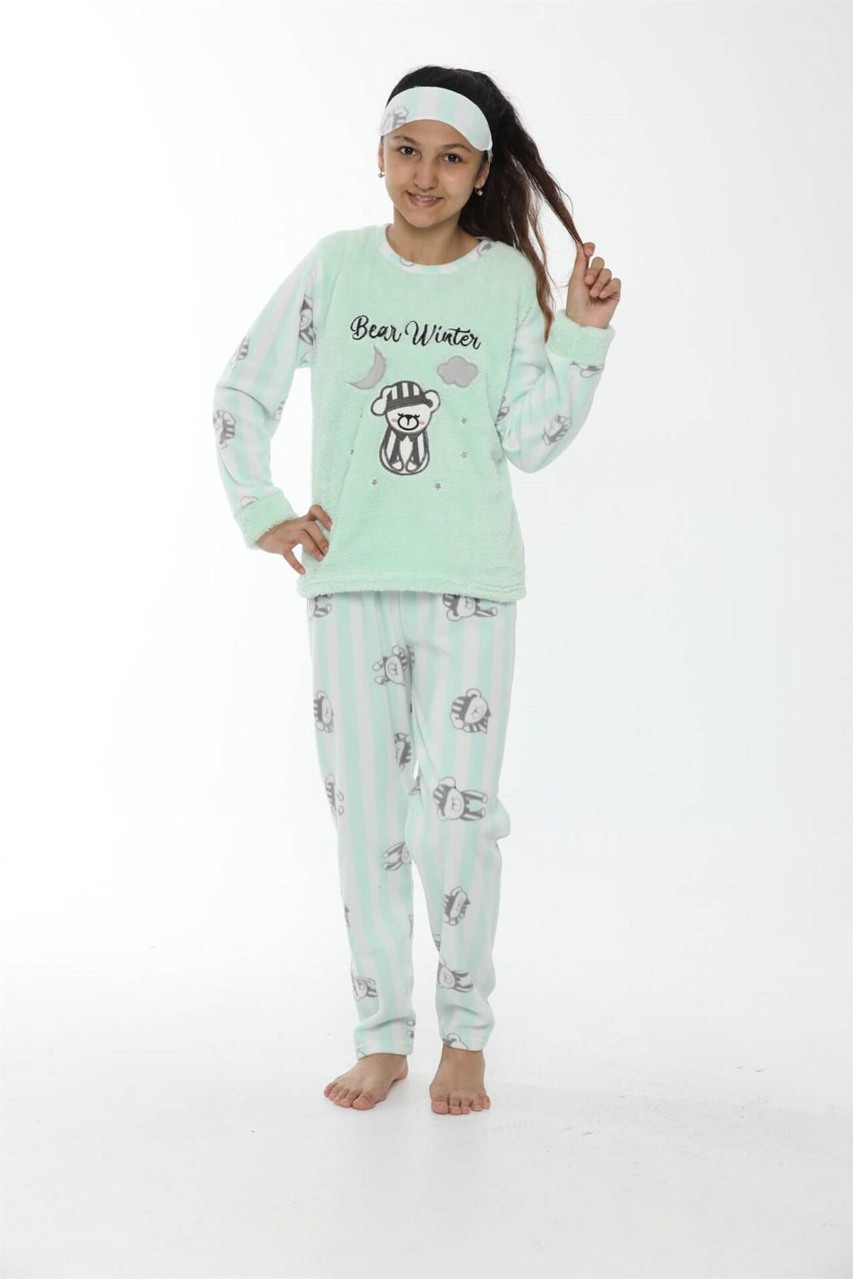 Angelino İç Giyim - WelSoft Polar Kız Çocuk Pijama Takımı 4533 (1)