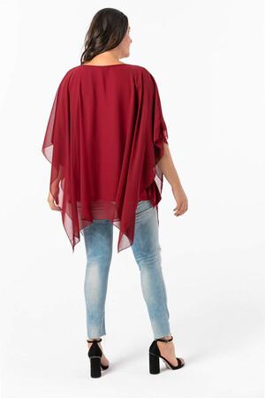 Angelino Butik - Angelino Büyük Beden Şifon Abiye Bluz KL1900 (1)