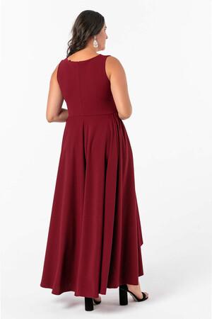 Angelino Butik - Angelino Büyük Beden Önü Kısa Arkası Uzun Prenses Elbisesi NV4009-9 (1)