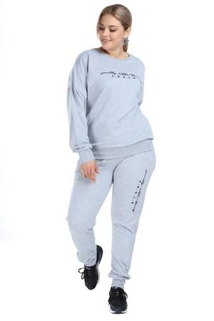 Angelino Butik - Angelino Büyük Beden Spor Giyim Eşofman Takım 2525 (1)