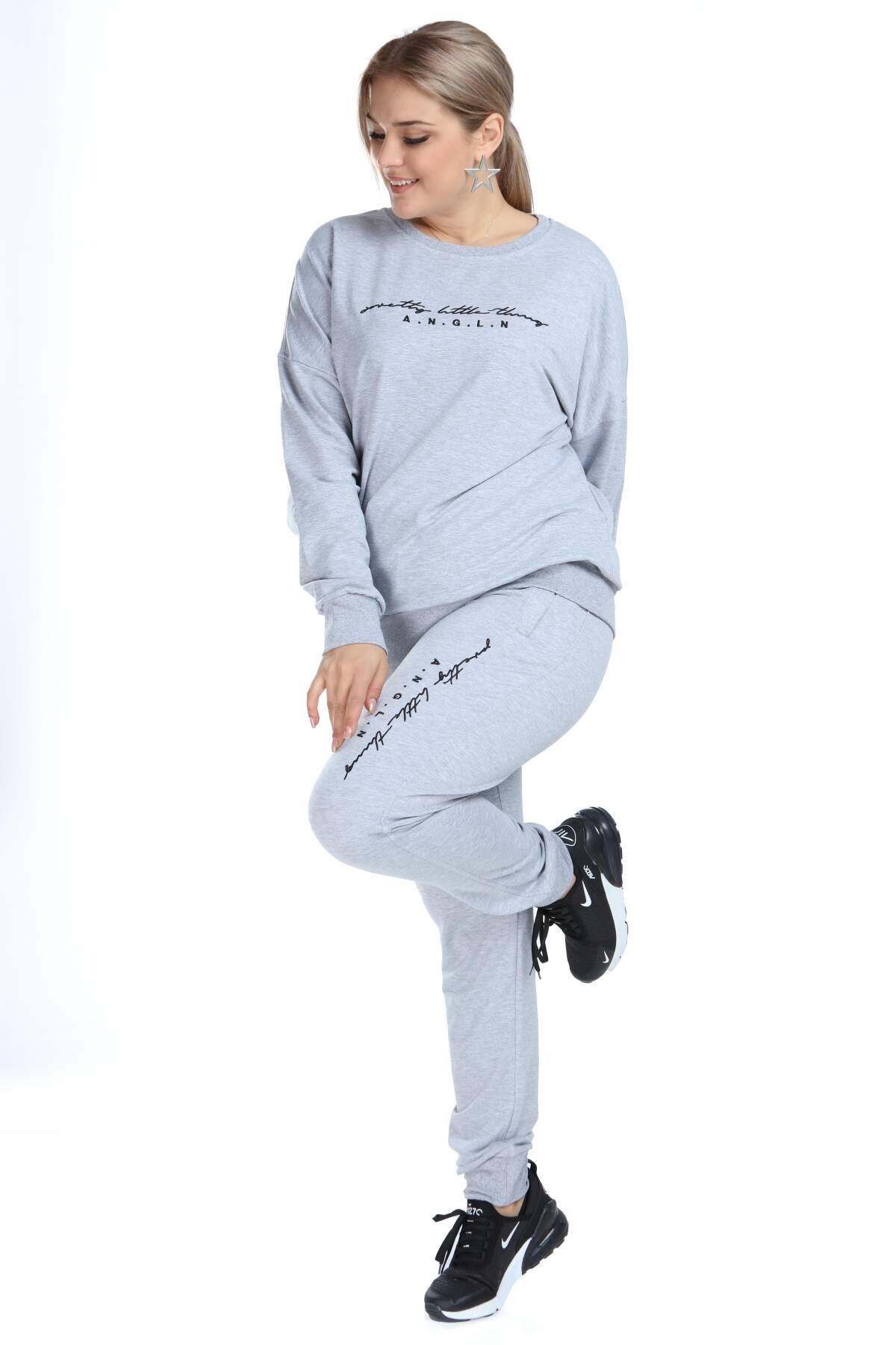 Angelino Büyük Beden Spor Giyim Eşofman Takım 2525