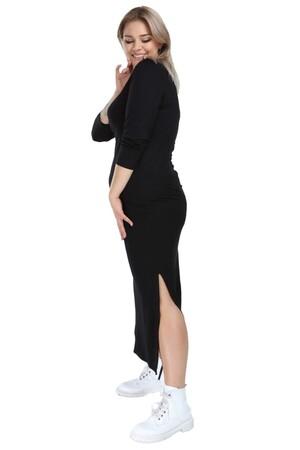 Angelino Butik - Angelino Genç Büyük Beden Yanı Yırtmaçlı Uzun Viskon Elbise AS02 (1)
