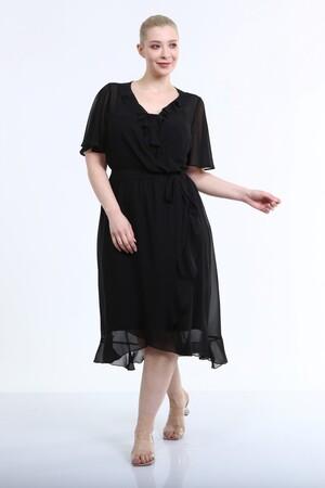 - Astarlı Anvelop Şifon Elbise (1)