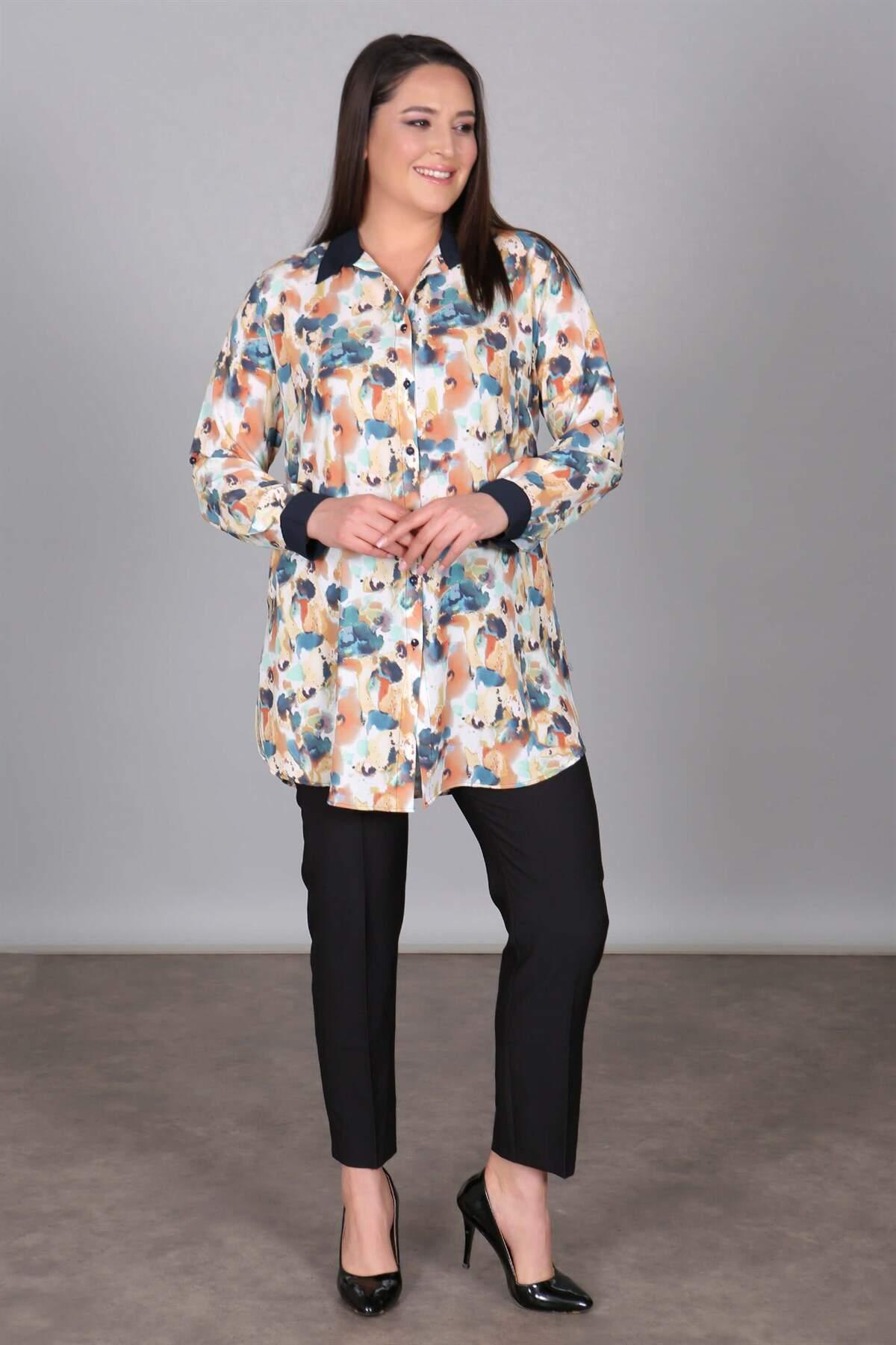 Batik Desen Mint Tunik Gömlek