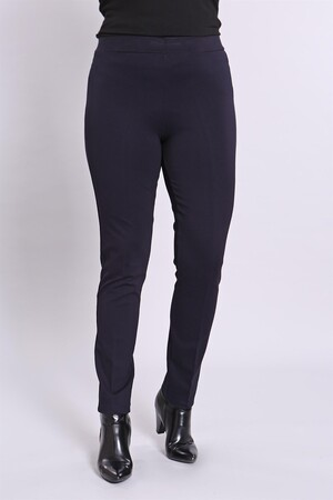 - Bel Lastikli Büyük Beden Lacivert Pantolon (1)