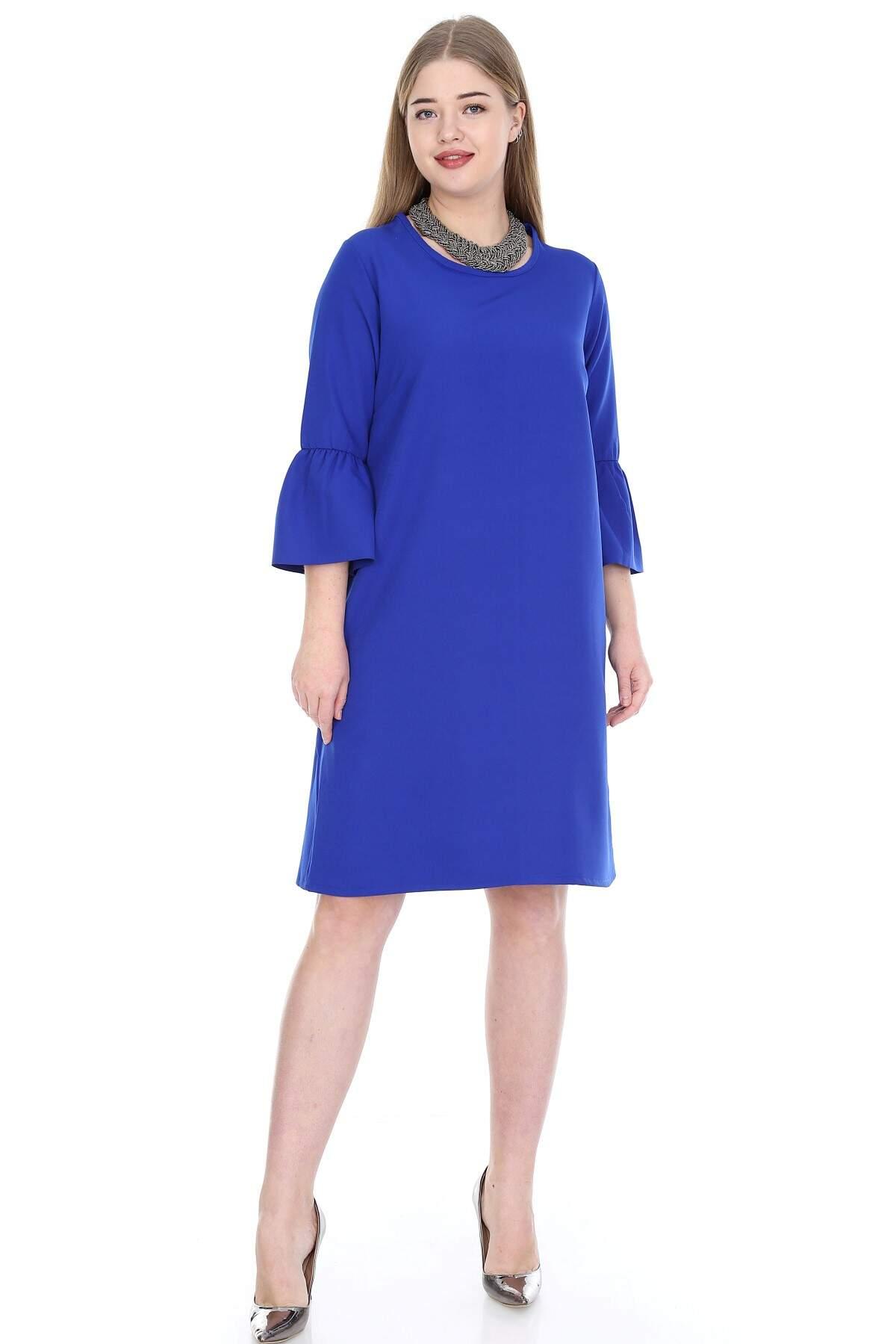 Büyük Beden Kampanyalı Elbise KL807sx