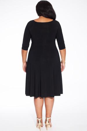Mangolino Dress - Büyük Beden Abiye Elbise Bordo MDBS8003 (1)