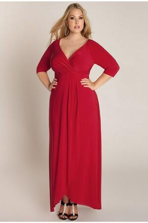 Mangolino Dress - Büyük Beden Abiye Elbise Kırmızı MD56 (1)