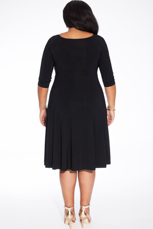 Mangolino Dress - Büyük Beden Abiye Elbise Sax MDBS8003 (1)