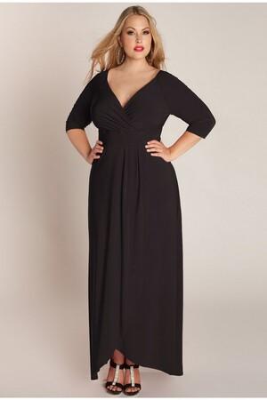 Mangolino Dress - Büyük Beden Abiye Elbise Siyah MD56 (1)