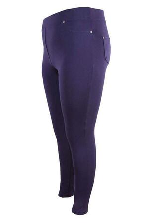 Angelino Fashion - Büyük Beden Cep Detay İçi Şardonlu Kışlık Tayt 44052 Lacivert (1)