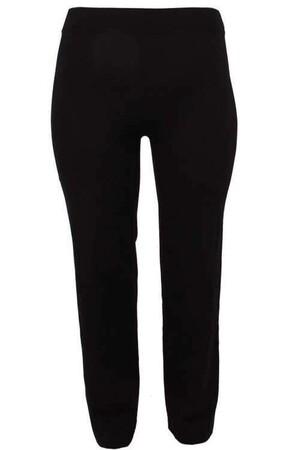 Angelino Fashion - Büyük Beden Geniş Paça Pantolon Görünümlü Tayt 44443 Siyah (1)