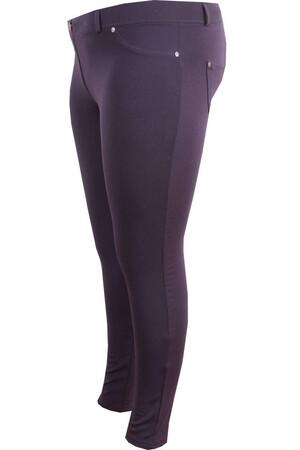 Angelino Fashion - Büyük Beden Cep Detay Pantolon Görünümlü Tayt 44087 Lacivert (1)
