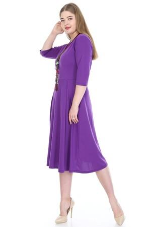 Angelino Butik - Büyük Beden Cepli Elbise KL778-19acm (1)