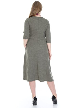 Angelino Fashion - Büyük Beden Cepli Elbise KL778-19hk (1)
