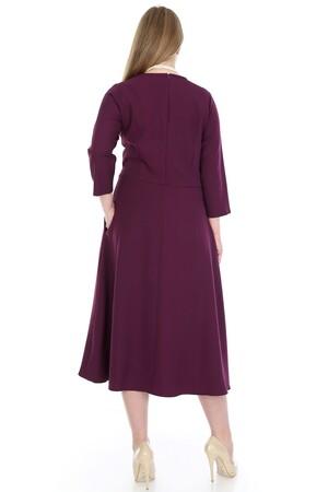 Angelino Butik - Büyük Beden Cepli Elbise KL778m (1)
