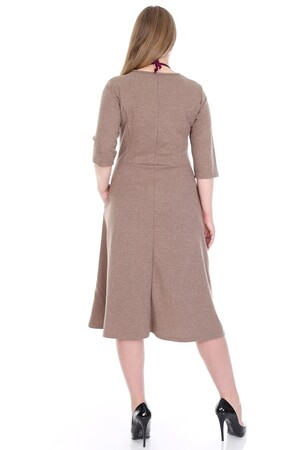 Angelino Fashion - Büyük Beden Cepli Elbise KL778-19vzn (1)