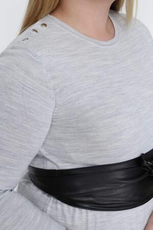 Angelino Fashion - Büyük Beden Deri Kemer ST25 Siyah (1)