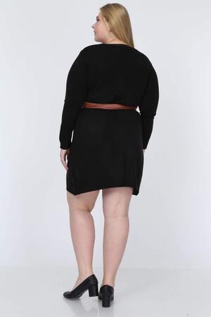 Angelino Fashion - Büyük Beden Deri Kemer ST25 Kahverengi (1)